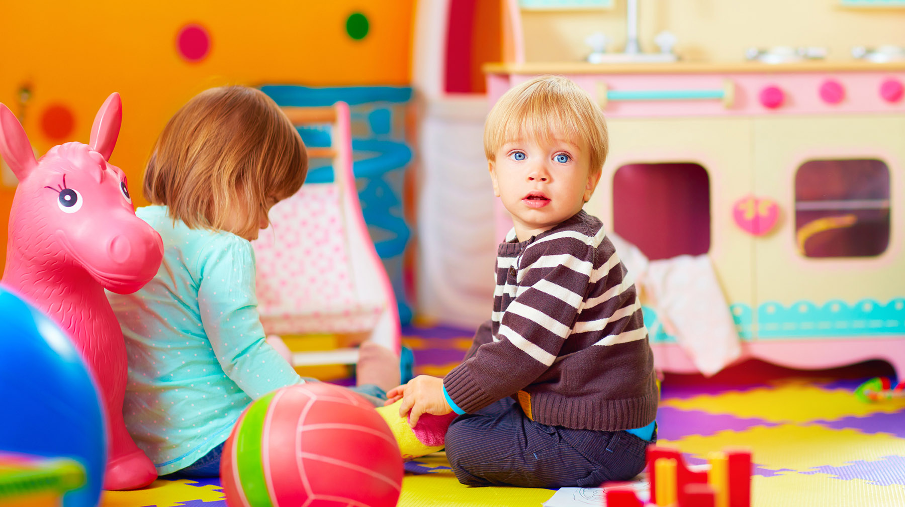Rocking Horse Creche and Preschool | cute little kids playing together in daycare center | Youghal, Cork